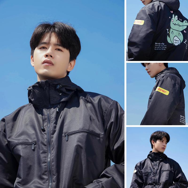 local brand áo khoác dù degrey