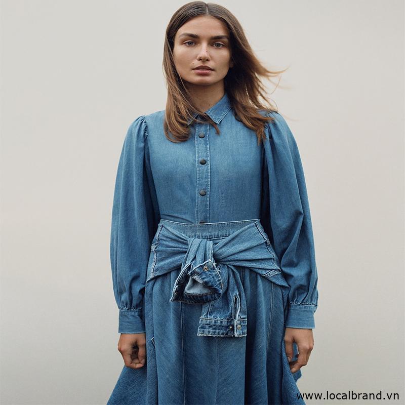 áo denim và váy từ zara brand