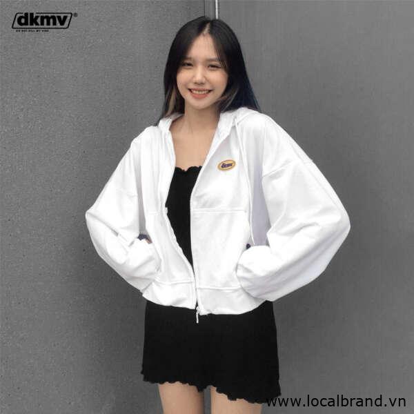 local brand hoodie zip dkmv