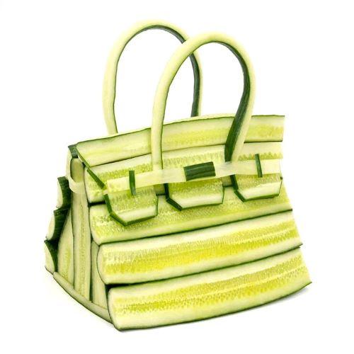 Túi xách cho người chơi hệ rau củ quả trong sự kết hợp của Ben Denzer và Hermès