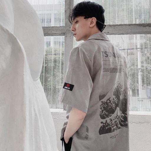 Áo sơ mi tay cọc Tsunami shirt
