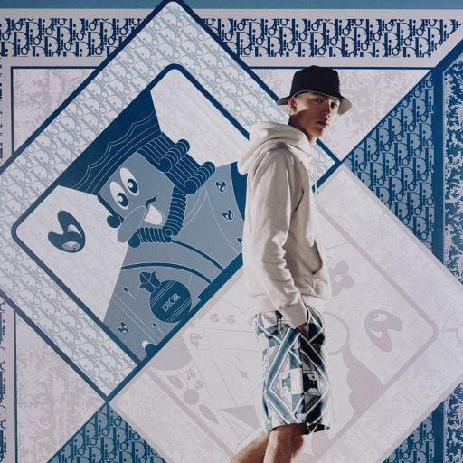 Quần Dior họa tiết lá bài