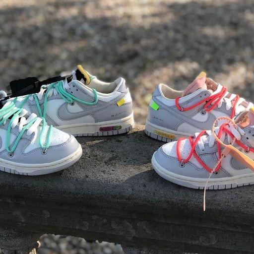 """Cận cảnh đôi Colorways Off-White x Nike Dunk Low """"THE 50"""" 04 và 06"""